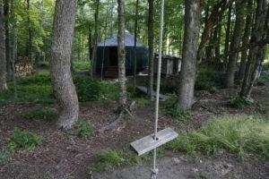 The yurt at Trollhaugen Farm